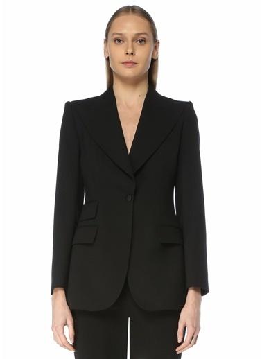 Dolce&Gabbana Dolce&Gabbana  Kırlangıç Yaka Yün Ceket 101618937 Siyah